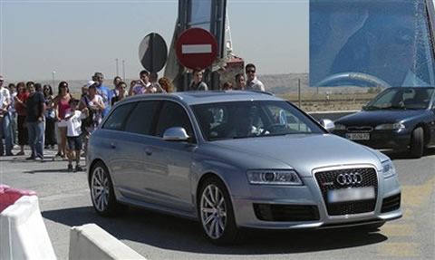 Cristiano Ronaldo driving an Audi RS6