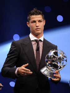Cristiano Ronaldo hairstyle in FIFA World Player of the Year ceremony