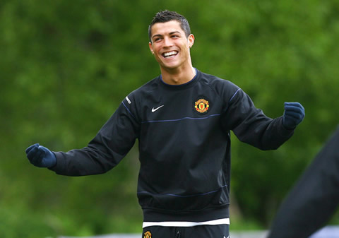 Cristiano Ronaldo hairstyle in Manchester United 2007-2008