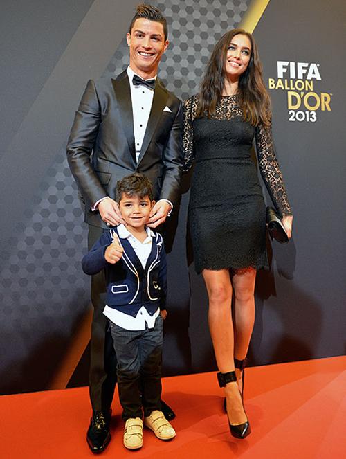 Cristiano Ronaldo, Irina Shayk and Cristiano Jr, at the FIFA Ballon d'Or