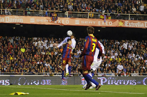 Cristiano Ronaldo header goal against Barcelona in the Copa del Rey final