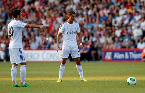 Cristiano Ronaldo Free Kick Stance Back View Bournemouth vs Real Ma...