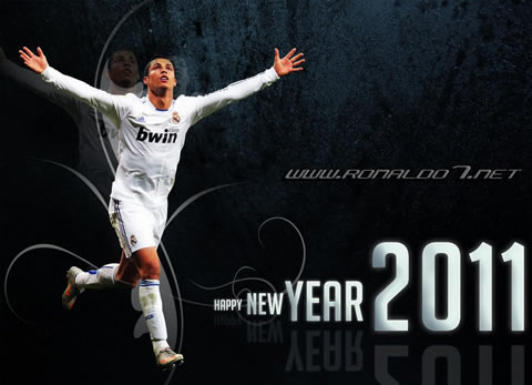 Cristiano Ronaldo wallpaper (1090x787): Happy New Year 2011