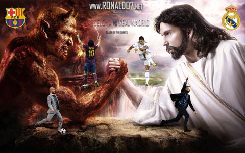 Real Madrid vs Barcelona - Good vs Evil wallpaper in HD (1920x1200)