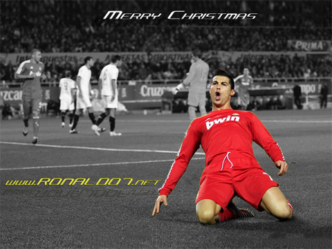 Cristiano Ronaldo - Merry Christmas. Wallpaper in HD (1024x768)