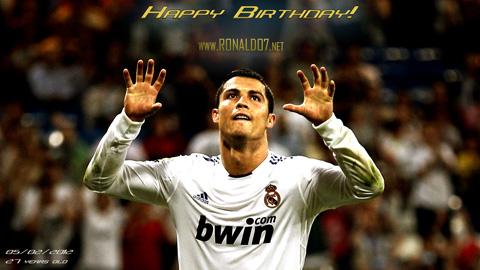 Cristiano Ronaldo Happy Birthday Poster! 27th aniversary, 5th of February 2012 (05-02-1985). Wallpaper in HD (1920x1080)