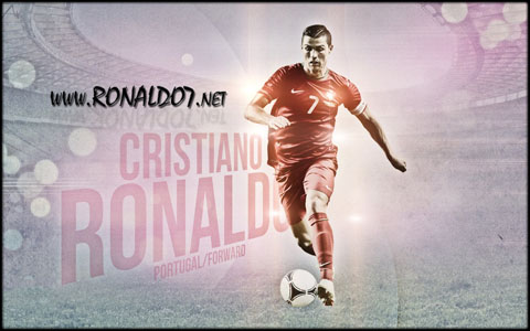 Cristiano Ronaldo - Never stop running. Wallpaper in HD (1680x1050)