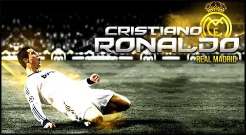 Cristiano Ronaldo - Sliding goal celebration in Real Madrid. Wallpaper in HD (640x350)