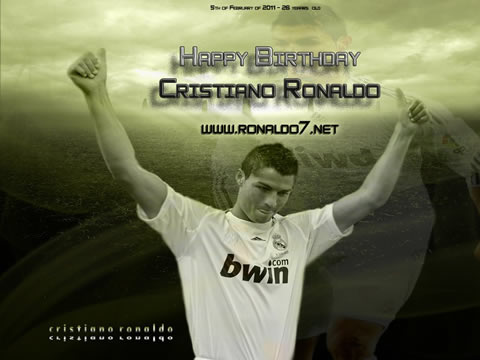 Cristiano Ronaldo wallpaper (900x675): Happy Birthday Cristiano Ronaldo