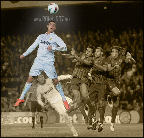Cristiano Ronaldo - Inhuman superman jump power and ability. Wallpaper in HD (660x634)