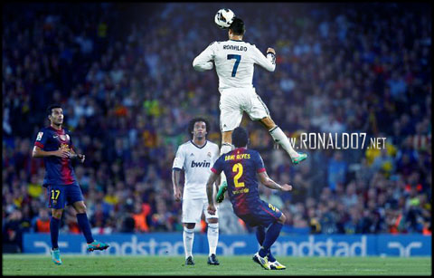 Cristiano Ronaldo - The highest jumper athlete in sports, football and soccer. Wallpaper in HD (636x407)