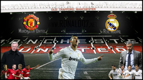 Manchester United vs Real Madrid - Cristiano Ronaldo returns to Manchester - Game poster and wallpaper for UEFA Champions League 2012-2013. Wallpaper in HD (1920x1080)