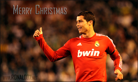 Cristiano Ronaldo - Merry Christmas in 2012 wallpaper. Wallpaper in HD (1600x960)