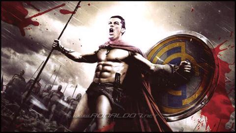 Cristiano Ronaldo - Spartan version of 300 movie. Wallpaper in HD (600x337)