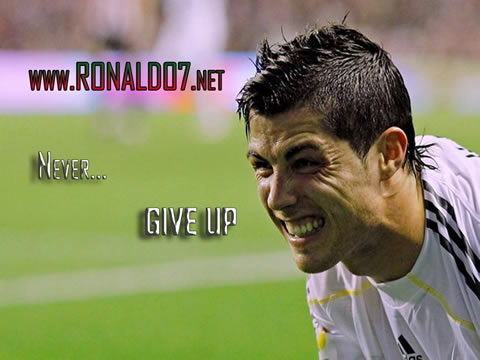 Cristiano Ronaldo wallpaper (1024x768) - CR7: Never give up