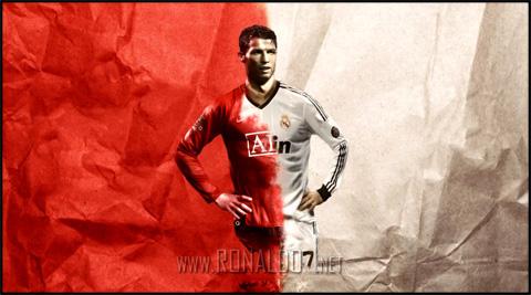 Cristiano Ronaldo - Half Manchester United, half Real Madrid. Wallpaper in HD (1280x713)