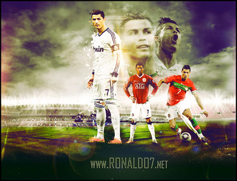 Cristiano Ronaldo - Number 7 of Madrid, United and Portugal. Wallpaper in HD (1020x783)