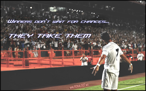 Cristiano Ronaldo - Winners don't wait for chances, they take them. Wallpaper in HD (1280x795)
