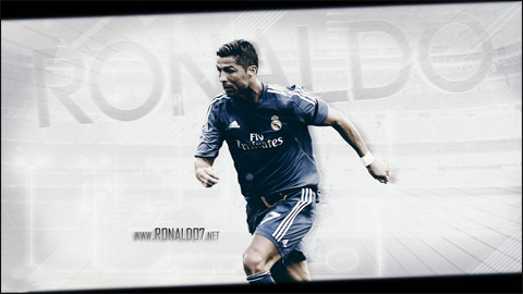 Cristiano Ronaldo - Attacking the new season in a blue Real Madrid kit. Wallpaper in HD (1024x576)