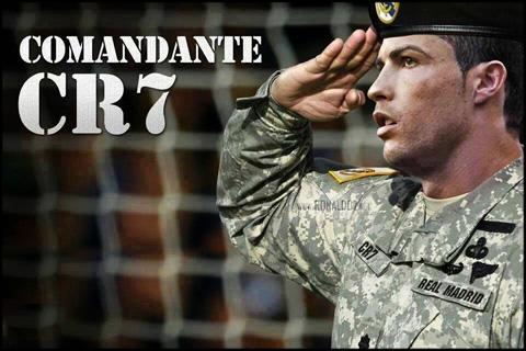 Cristiano Ronaldo - El Comandante CR7 - The commander. Wallpaper in HD (960x640)
