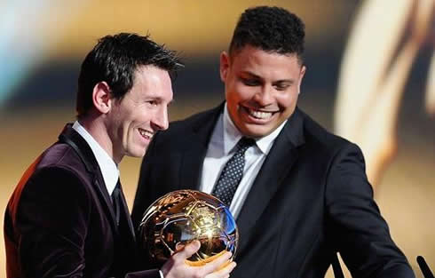 Photo of Ronaldo & his friend  Lionel Messi