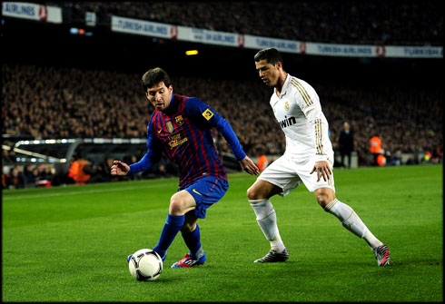 Cristiano Ronaldo vs Lionel Messi, in Real Madrid vs Barcelona 2012