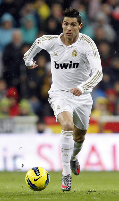 Cristiano Ronaldo running for Real Madrid in 2012