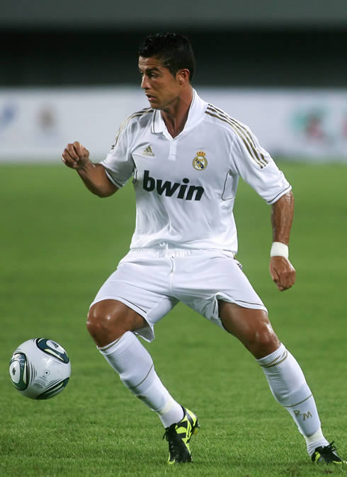 Cristiano Ronaldo playing for Real Madrid in the beggining of the 2011-2012 season