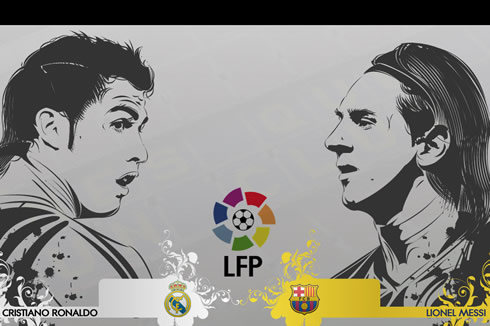 Cristiano Ronaldo and Lionel Messi wallpaper 2012