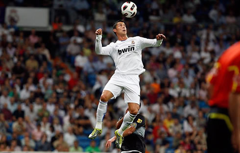 Cristiano Ronaldo big jump in Real Madrid 2012