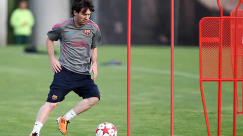 Lionel Messi training session in Barcelona 2012