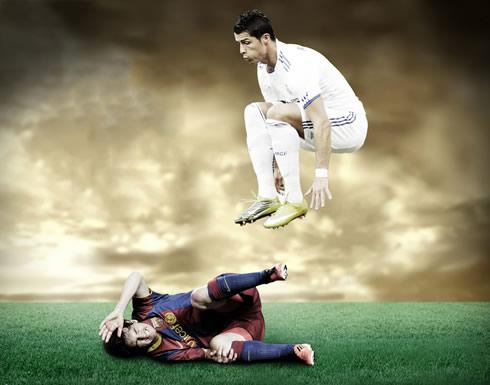 Lionel Messi Wallpaper on Cristiano Ronaldo Vs Lionel Messi 2012 Wallpaper  With A Real Madrid