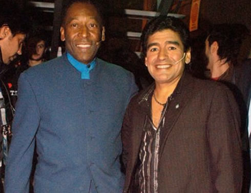 Photo of Diego Maradona & his friend  Pelé