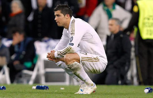 Cristiano Ronaldo feeling powerless during the penalties shootout, between Real Madrid vs Bayern Munich in 2012