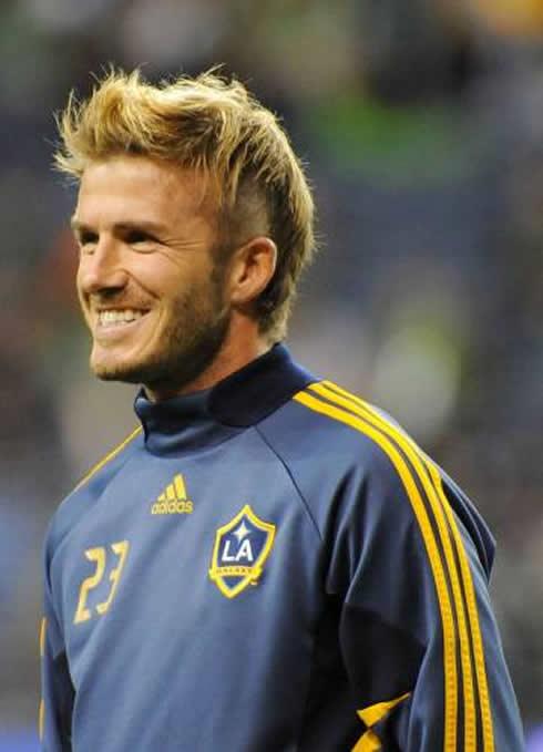 David Beckham Cant Wait For The Match Against Cristiano Ronaldo - David beckham hairstyle la galaxy