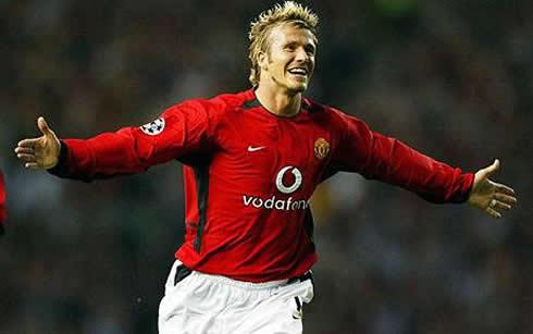 David Beckham with his...