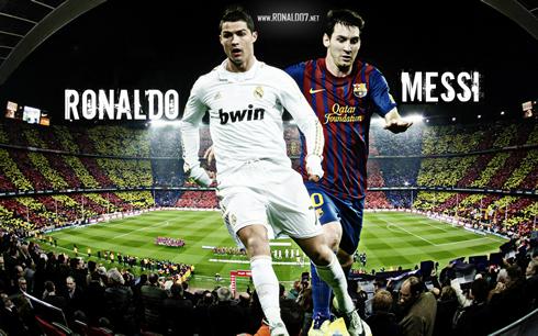 Barcelona 2-2 Real Madrid. Cristiano Ronaldo and Lionel Messi ...