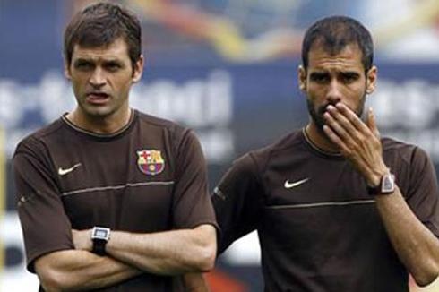 Tito Vilanova and Pepe Guardiola in Barcelona 2008-2012