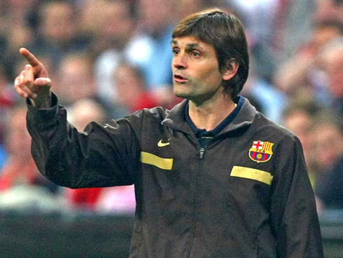 Tito Vilanova is a soccer coach with a funny and weird hairstyle and haircut