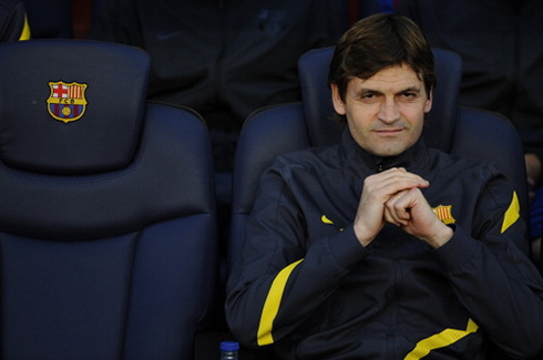 Tito Vilanova with the Devil's smile in Barcelona