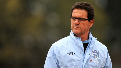Fabio Capello leading a training session as England National Team manager and coach