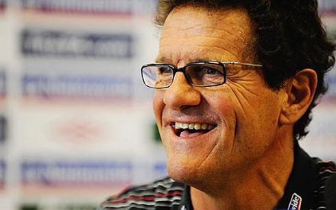 Fabio Capello rare smile