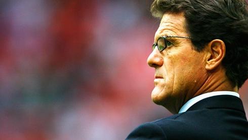 Fabio Capello serious posture as a football manager
