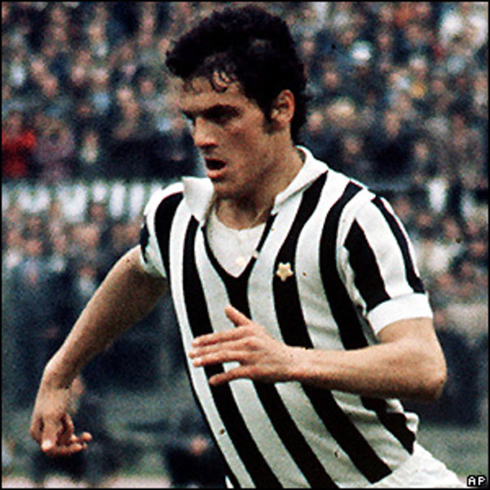 Fabio Capello younger photo, when he was a football player in Juventus FC, between 1970 and 1976