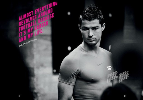 Cristiano Ronaldo poster ad for Nike's new collection in 2012-2013