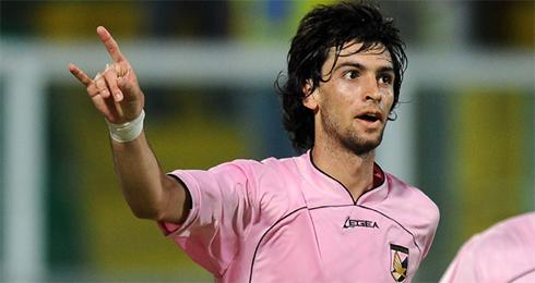 Javier Pastore long hair, in Palermo 2009-2010