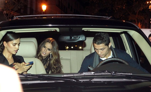 Cristiano Ronaldo Driving A Car And Going Home With Two