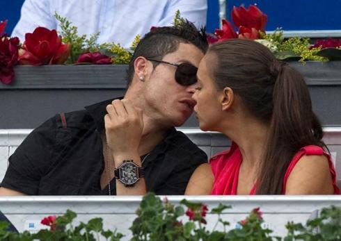 Cristiano Ronaldo Kissing Irina Shayk In A Public Event