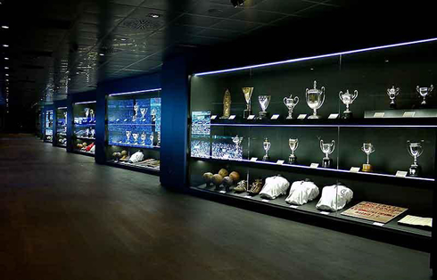 Real Madrids Santiago Bernabeu Trophy Room Hall And Lobby