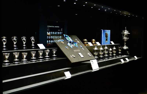 Real Madrid Showroom At The Bernabeu Tour Madrids Santiago Trophy Room